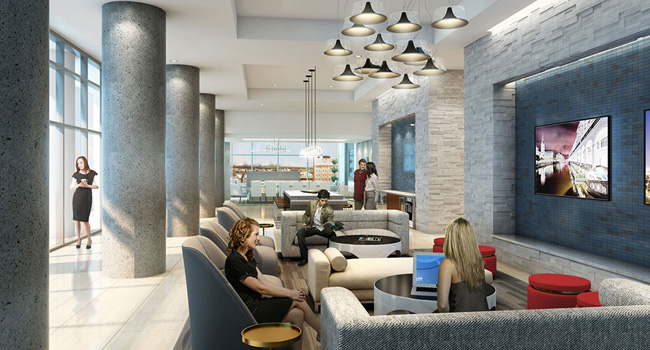 Houston Luxury Apartment Lobby Area