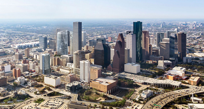 Houston Downtown Aerial View